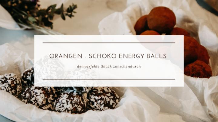 Orangen-Mandel-Schoko Energy Balls